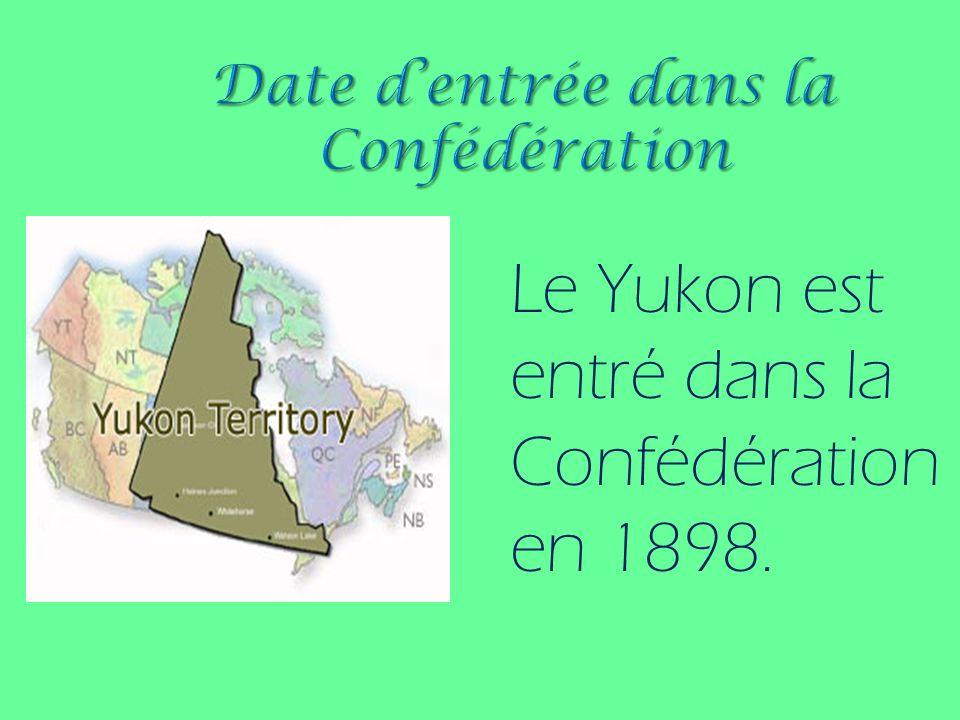 Le Yukon a été créé à partir de la région occidentale des Territoires du Nord- Ouest afin de répondre à la croissance de la population lors de la ruée vers lor du Klondike.
