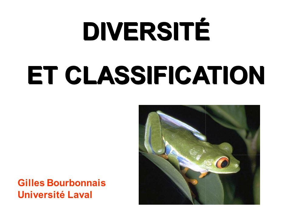 DIVERSITÉ ET CLASSIFICATION DIVERSITÉ ET CLASSIFICATION Gilles Bourbonnais Université Laval