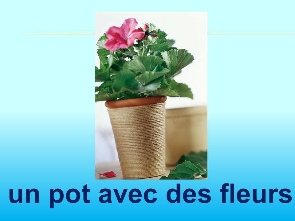 un pot avec des fleurs