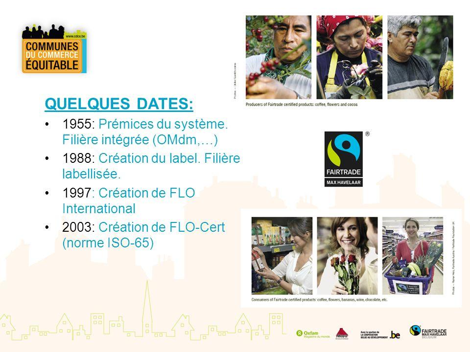 QUELQUES DATES: 1955: Prémices du système. Filière intégrée (OMdm,…) 1988: Création du label. Filière labellisée. 1997: Création de FLO International