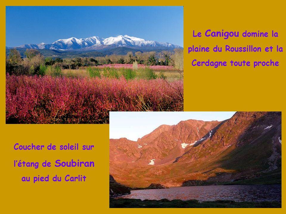 Le Massif du Canigou, la Montagne Sacrée des Catalans, culmine à 2 784 m dans les Pyrénées Orientales