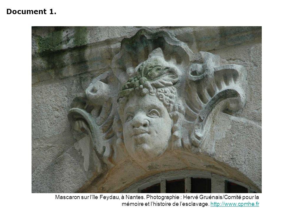 Mascaron sur lîle Feydau, à Nantes. Photographie : Hervé Gruénais/Comité pour la mémoire et lhistoire de lesclavage. http://www.cpmhe.frhttp://www.cpm