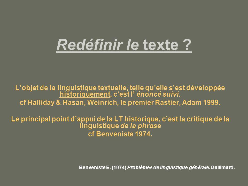 Redéfinir le texte .Conclusion .
