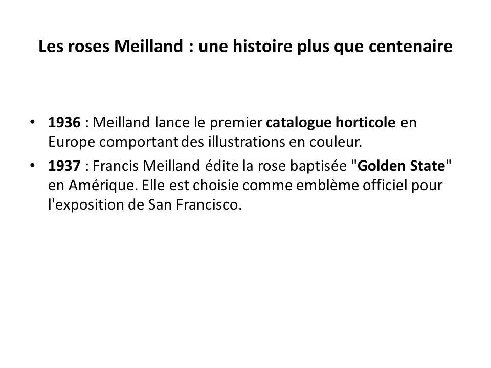Les roses Meilland : une histoire plus que centenaire 1936 : Meilland lance le premier catalogue horticole en Europe comportant des illustrations en couleur.
