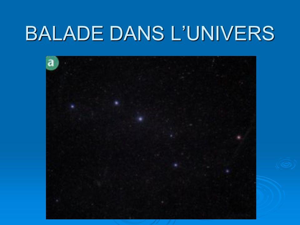 BALADE DANS LUNIVERS Un amas de galaxies: ensemble formé par un grand nombre de galaxies voisines.