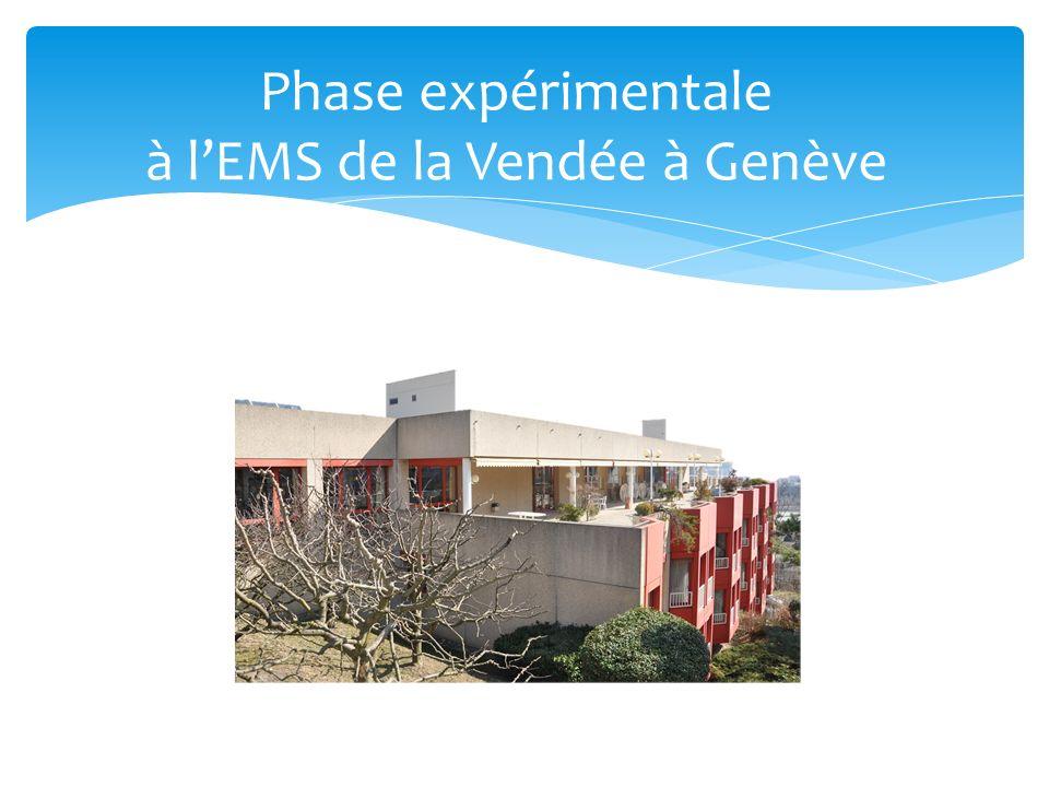 Phase expérimentale à lEMS de la Vendée à Genève