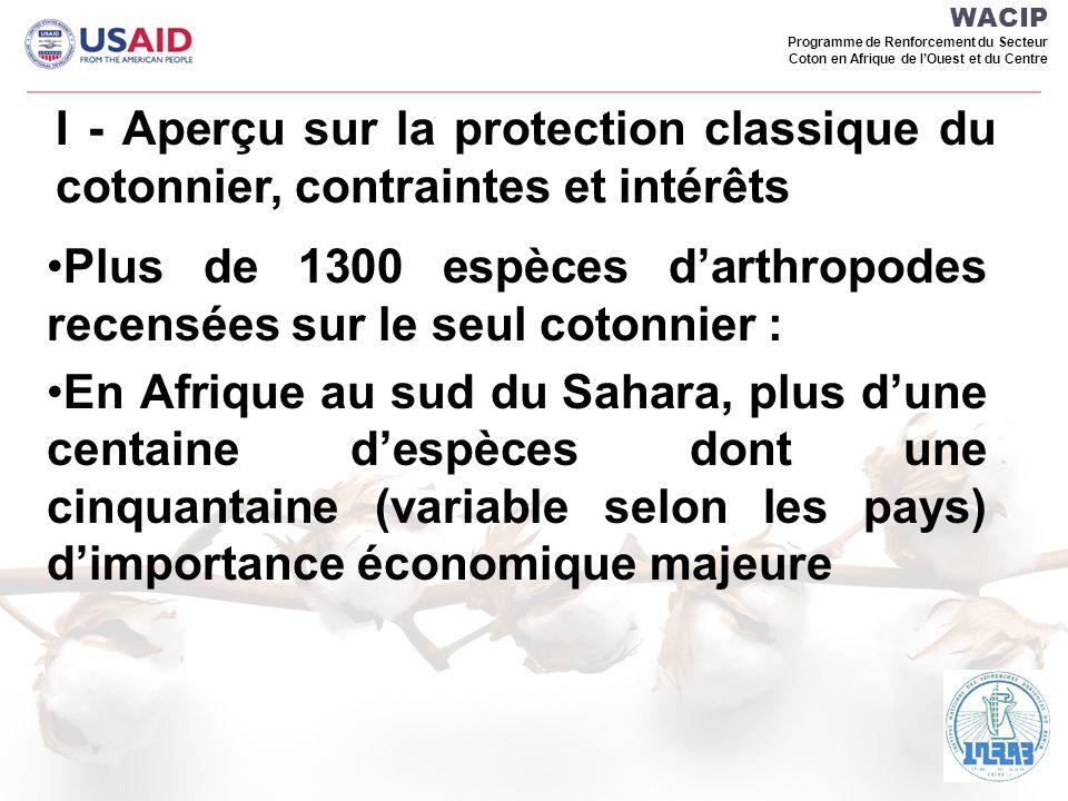 WACIP Programme de Renforcement du Secteur Coton en Afrique de lOuest et du Centre Floraison plantes pièges et cotonnier (Tchad)