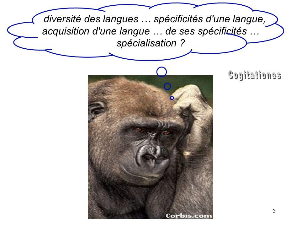 32 Exemples de phrases resynthétisées avec MBROLA (Ramus & Mehler, 1999, JASA, 105) kotira.no kata.wa keiseigeka.no senmonka des.