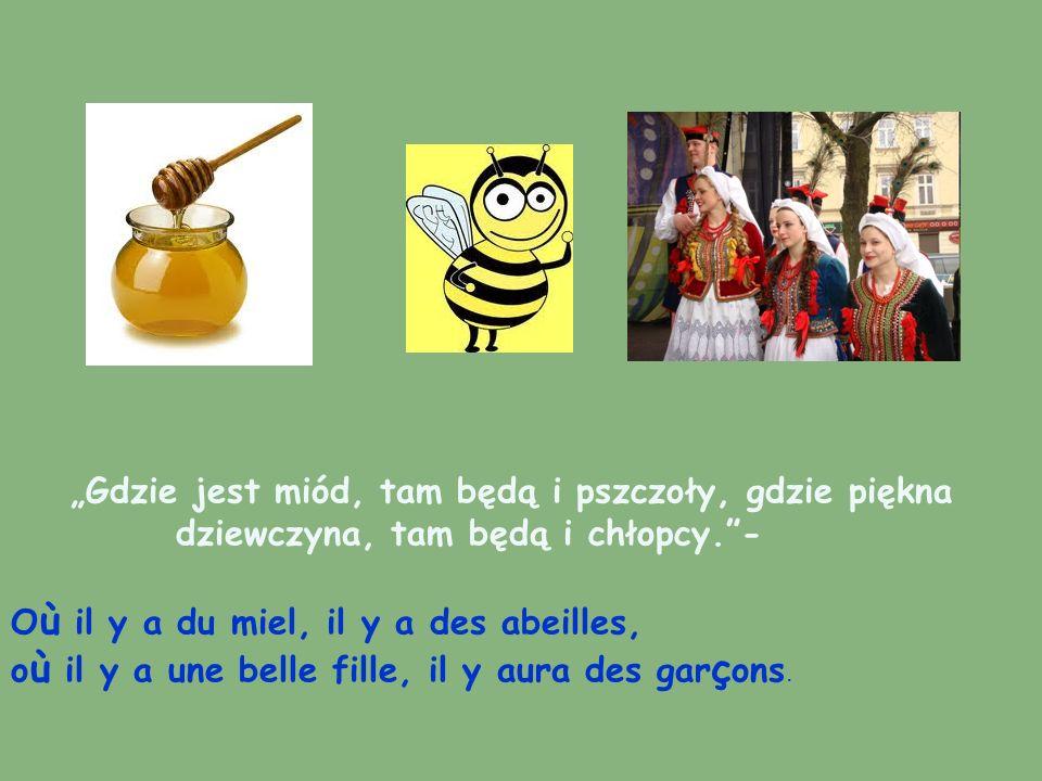 Gdzie jest miód, tam będą i pszczoły, gdzie piękna dziewczyna, tam będą i chłopcy.- O ù il y a du miel, il y a des abeilles, o ù il y a une belle fill