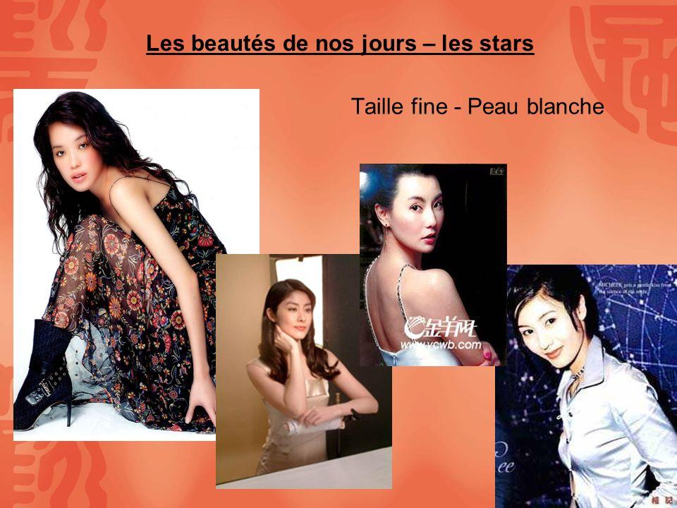 Les beautés de nos jours – les stars Taille fine - Peau blanche