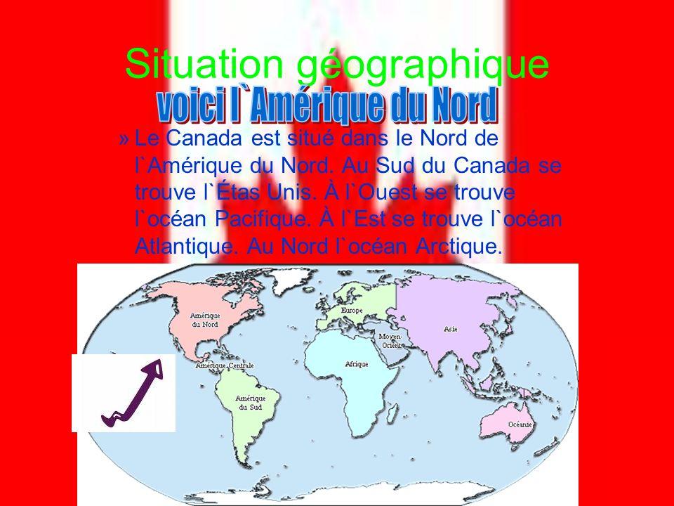Situation géographique »l»le canada est situé dans le nord de l