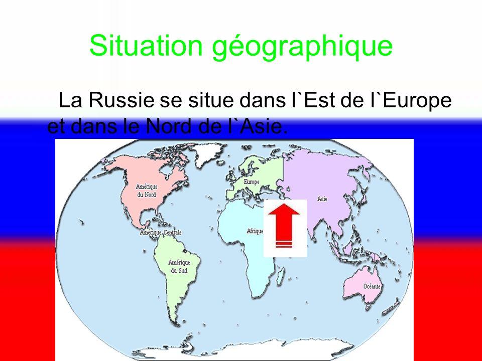 Situation géographique la russie se situe dans l`est de l`europe et