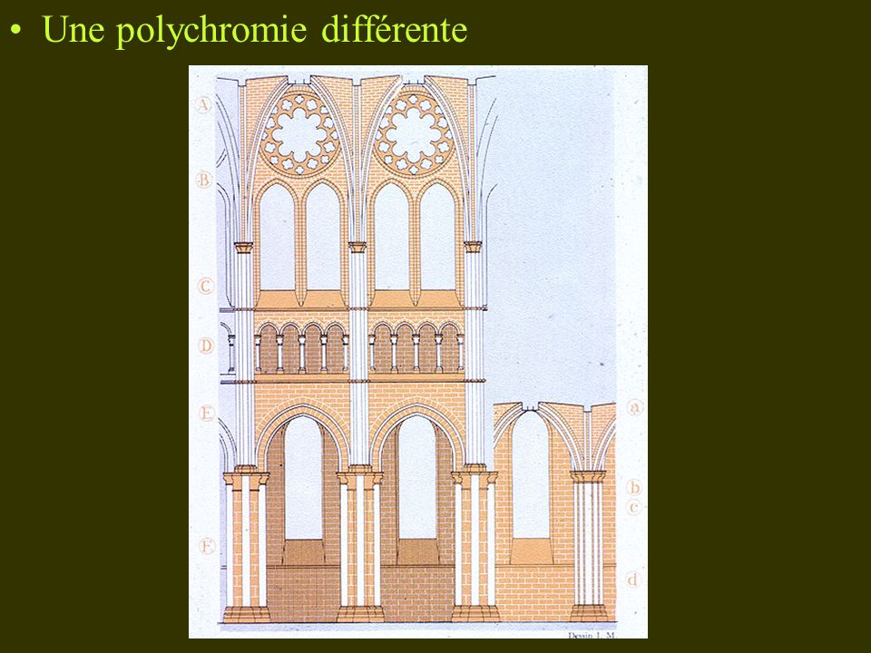Une polychromie différente