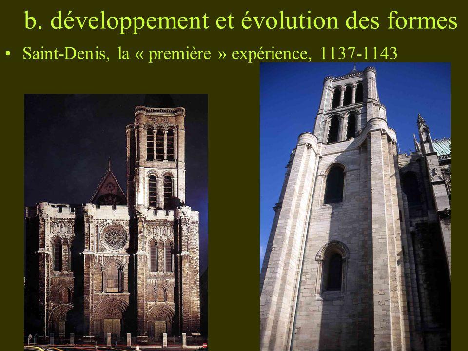 b. développement et évolution des formes Saint-Denis, la « première » expérience, 1137-1143