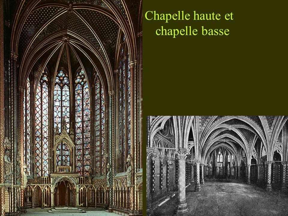 Chapelle haute et chapelle basse
