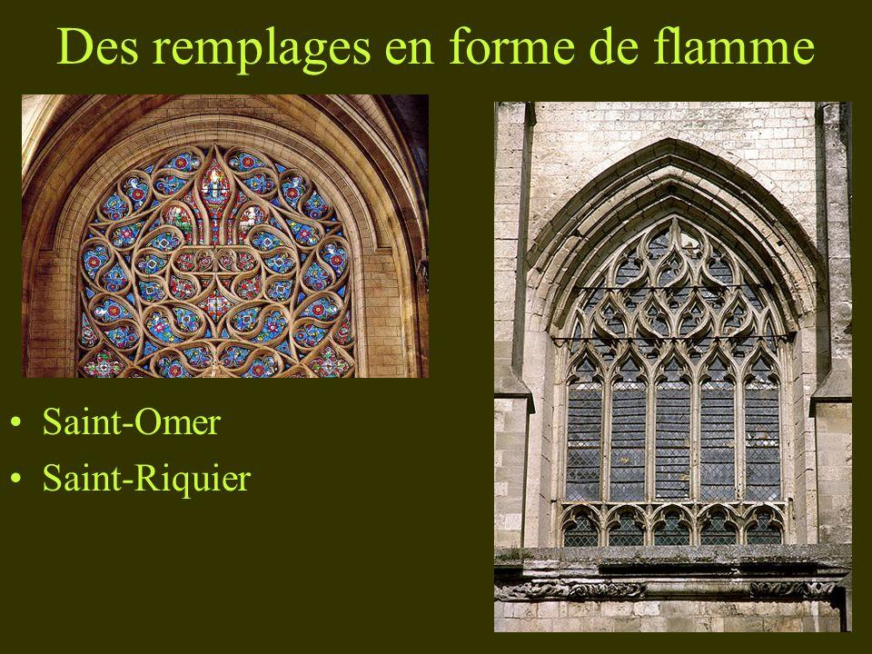 Des remplages en forme de flamme Saint-Omer Saint-Riquier
