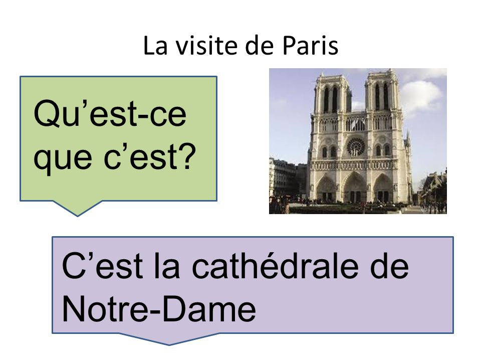 La visite de Paris Quest-ce que cest Cest la cathédrale de Notre-Dame