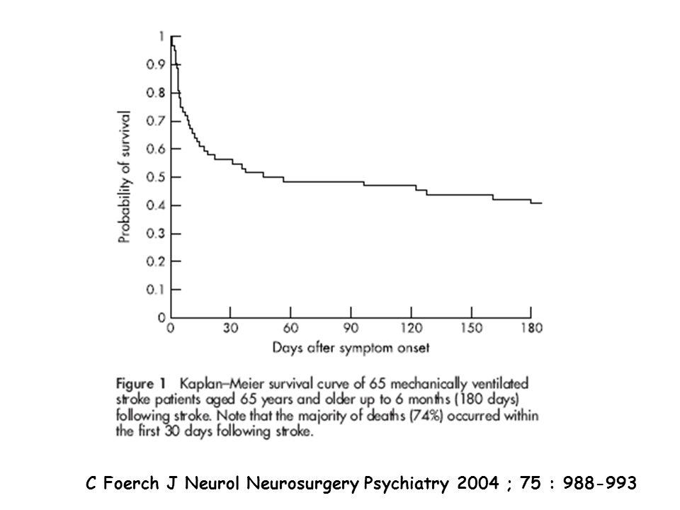C Foerch J Neurol Neurosurgery Psychiatry 2004 ; 75 : 988-993