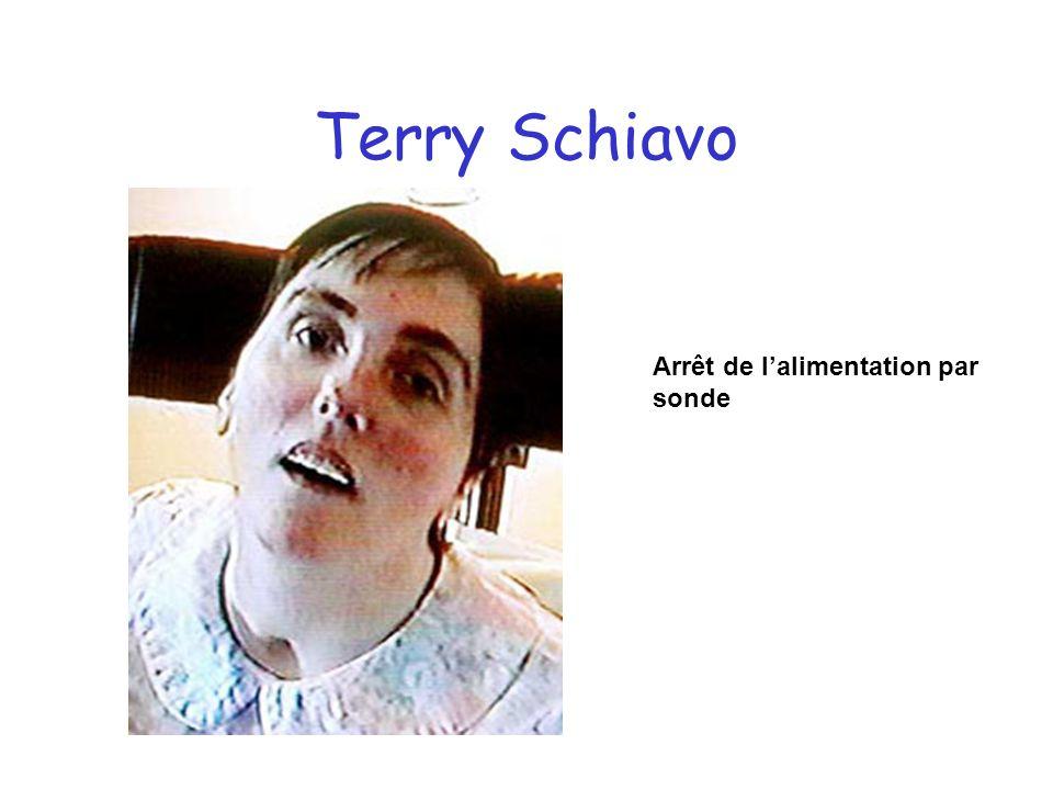 Terry Schiavo Arrêt de lalimentation par sonde