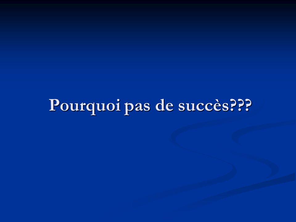 Pourquoi pas de succès???