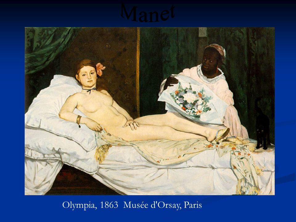 Olympia, 1863 Musée d'Orsay, Paris