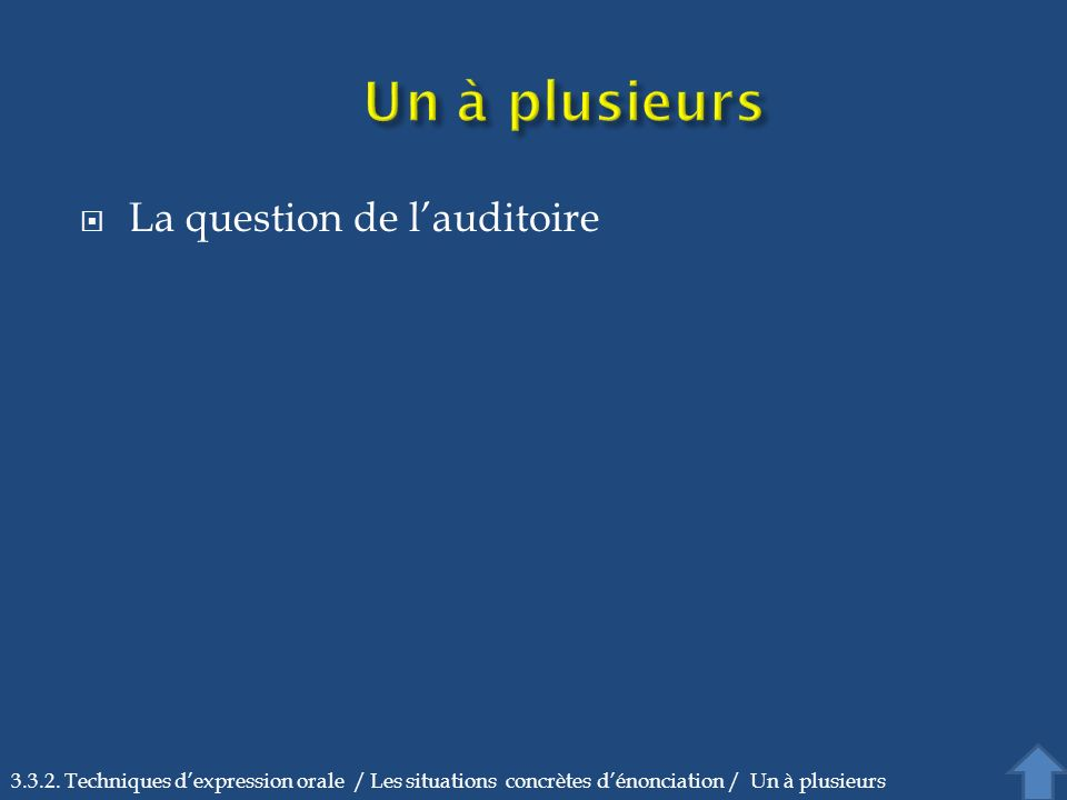 La question de lauditoire 3.3.2.