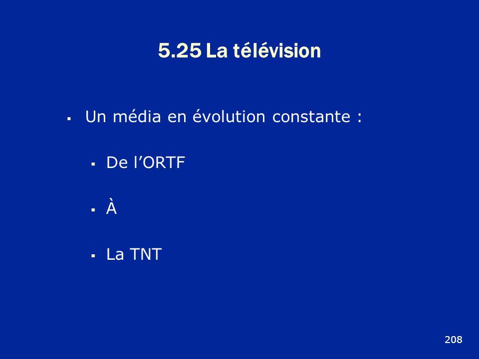 5.25 La télévision Un média en évolution constante : De lORTF À La TNT 208