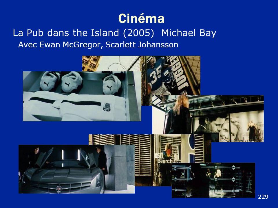Cinéma La Pub dans the Island (2005) Michael Bay Avec Ewan McGregor, Scarlett Johansson 229