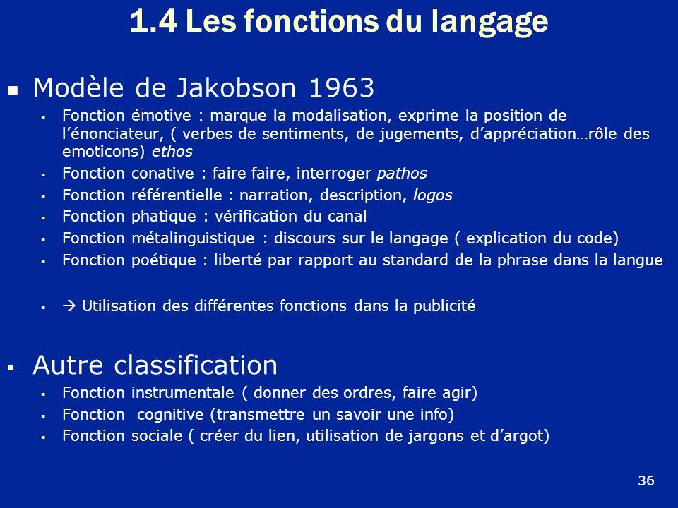 Modèle de Jakobson 1963 Fonction émotive : marque la modalisation, exprime la position de lénonciateur, ( verbes de sentiments, de jugements, dappréci