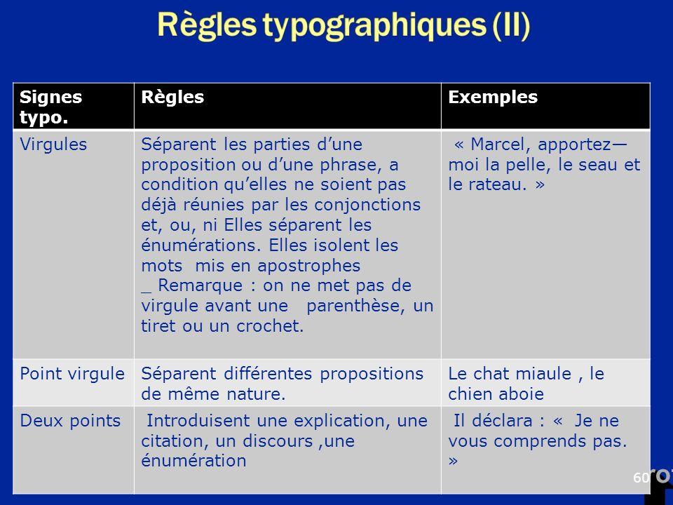 BTS communication : les textes types et prototypes Nathan U Signes typo. RèglesExemples VirgulesSéparent les parties dune proposition ou dune phrase,