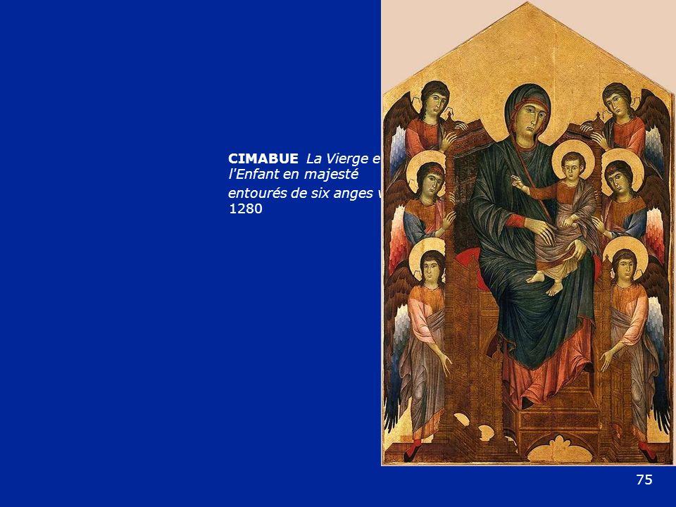 CIMABUE La Vierge et l'Enfant en majesté entourés de six anges vers 1280 75