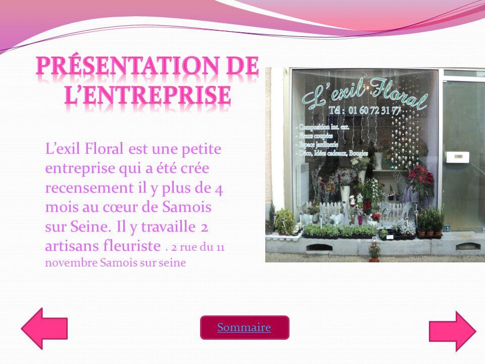 Lexil Floral est une petite entreprise qui a été crée recensement il y plus de 4 mois au cœur de Samois sur Seine. Il y travaille 2 artisans fleuriste