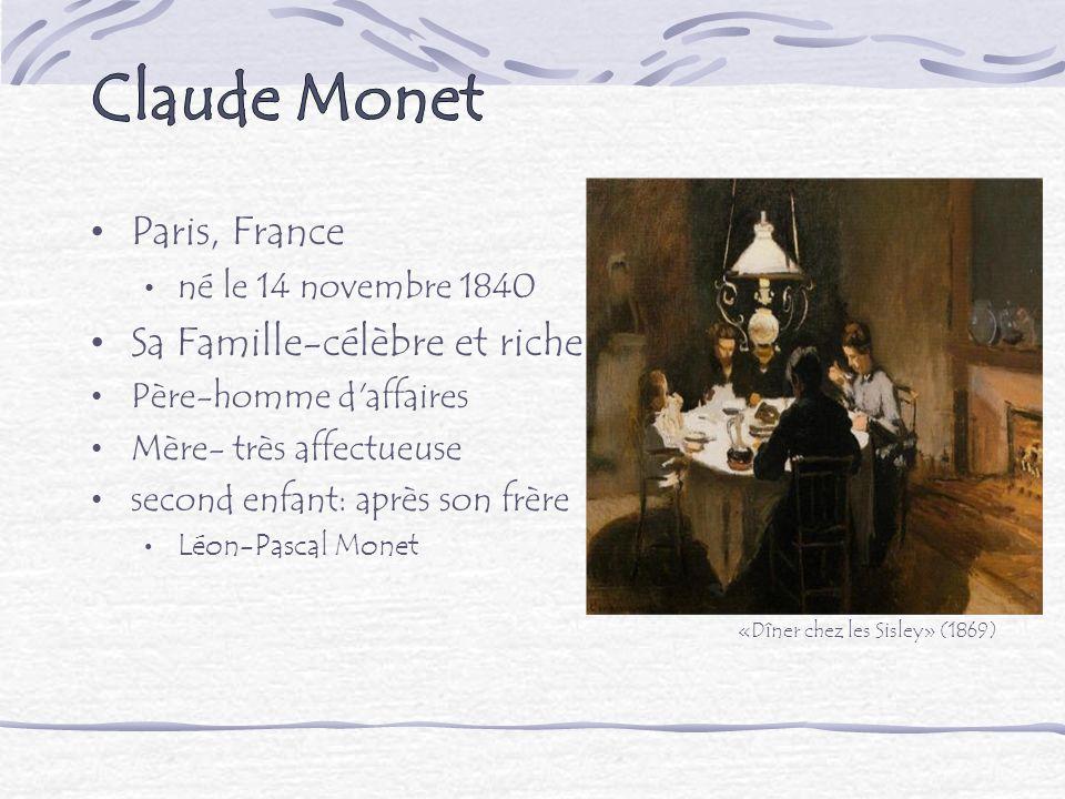 Paris, France né le 14 novembre 1840 Sa Famille-célèbre et riche Père-homme d'affaires Mère- très affectueuse second enfant: après son frère Léon-Pasc