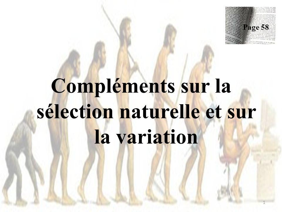 Compléments sur la sélection naturelle et sur la variation Page 58 1