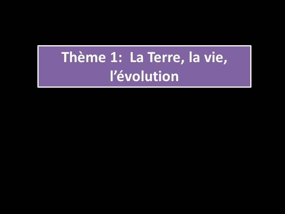 Thème 1: La Terre, la vie, lévolution