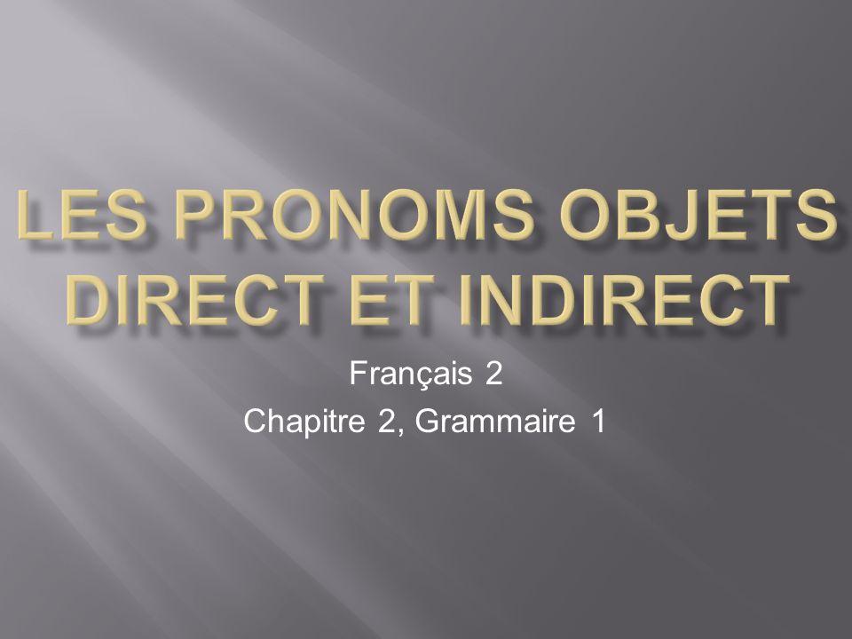 Français 2 Chapitre 2, Grammaire 1