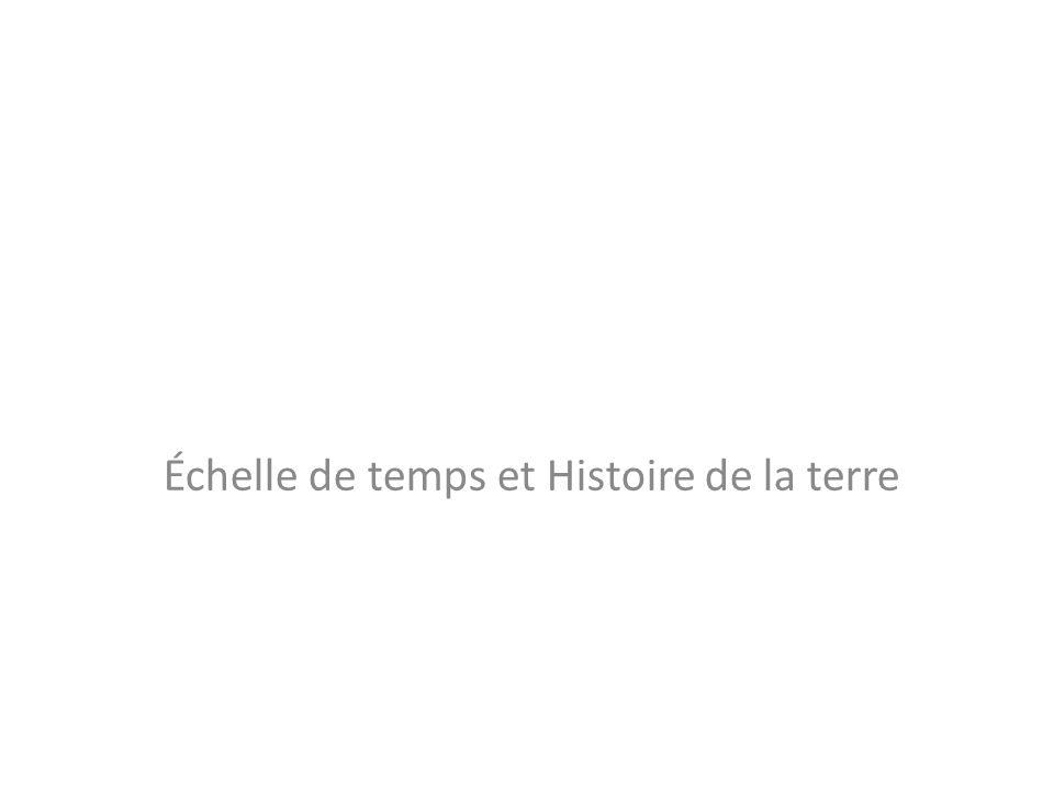 Échelle de temps et Histoire de la terre