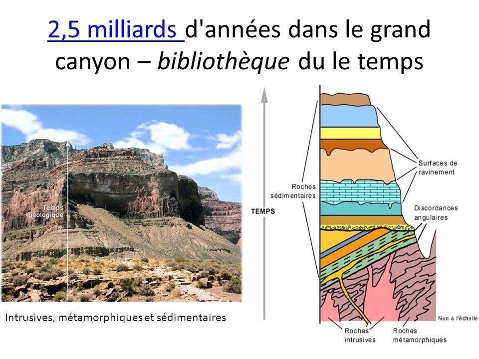 2,5 milliards 2,5 milliards d'années dans le grand canyon – bibliothèque du le temps Intrusives, métamorphiques et sédimentaires