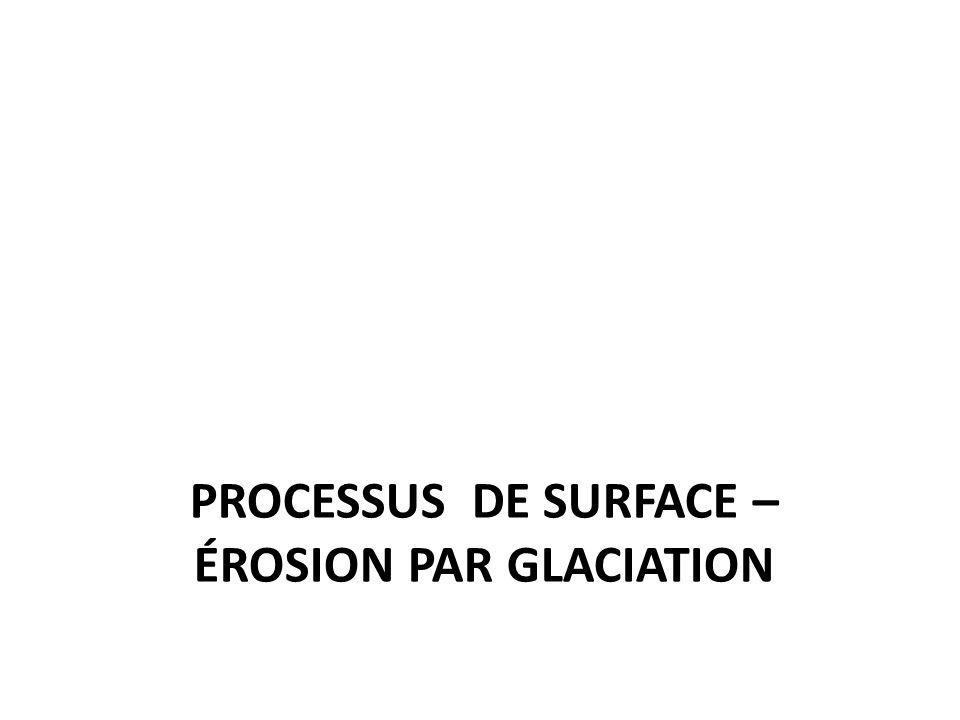 PROCESSUS DE SURFACE – ÉROSION PAR GLACIATION