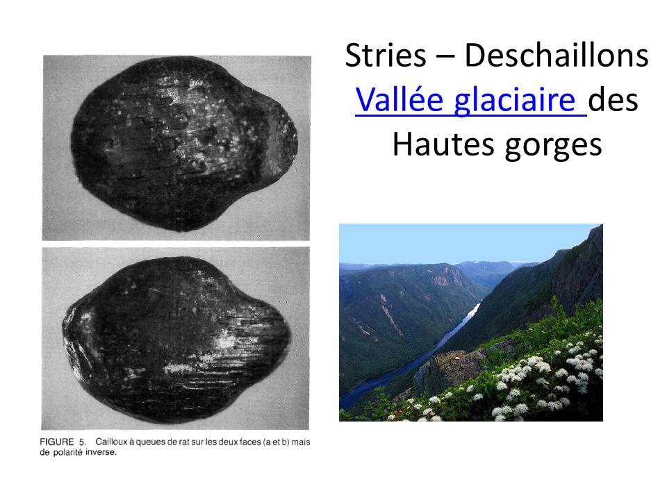 Stries – Deschaillons Vallée glaciaire des Hautes gorges Vallée glaciaire