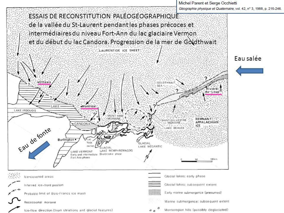 ESSAIS DE RECONSTITUTION PALÉOGÉOGRAPHIQUE de la vallée du St-Laurent pendant les phases précoces et intermédiaires du niveau Fort-Ann du lac glaciair