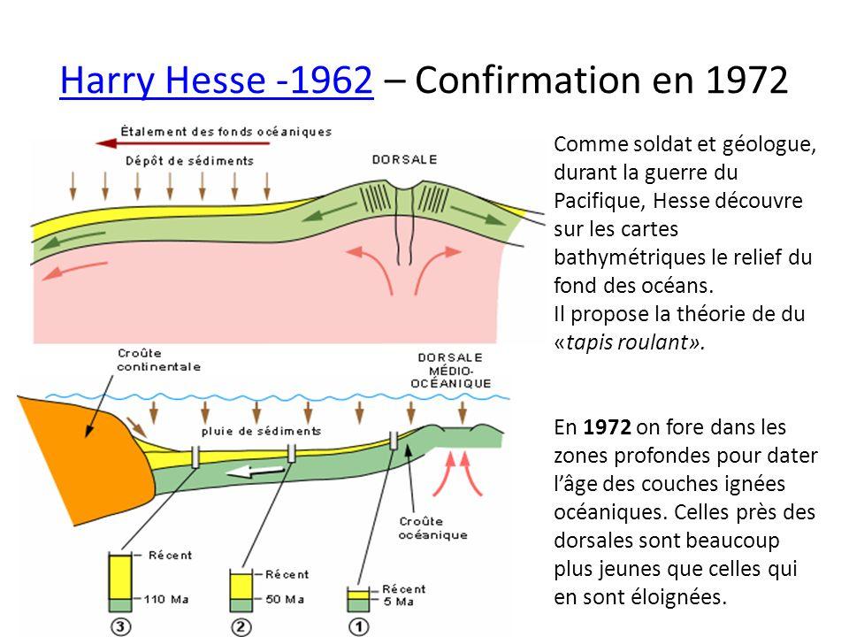 Harry Hesse -1962Harry Hesse -1962 – Confirmation en 1972 Comme soldat et géologue, durant la guerre du Pacifique, Hesse découvre sur les cartes bathy
