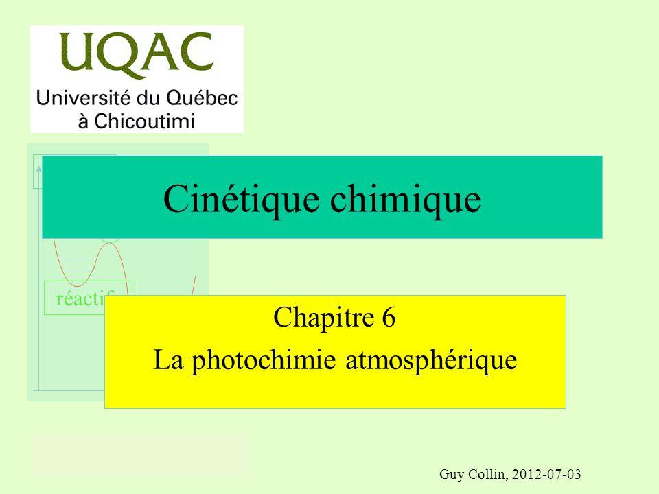 réactifs produits énergie temps LA PHOTOCHIMIE ATMOSPHÉRIQUE À laide des lois de la photochimie entre autres, comment a évolué latmosphère au cours des âges .