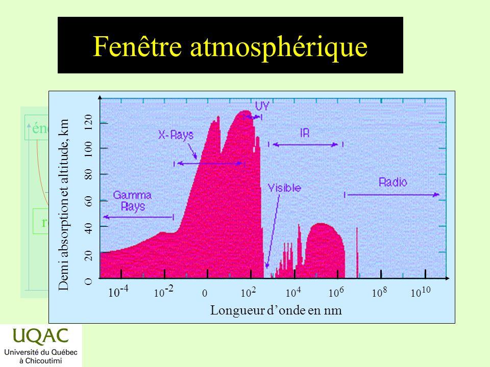 réactifs produits énergie temps Spectre dabsorption de lozone 200400600 (nm) Spectre dabsorption de O 3 1,0 0,1 0,01 cm 2 10 17 10 19 10 21 Lumière transmise par 3,7 Torr de O 3