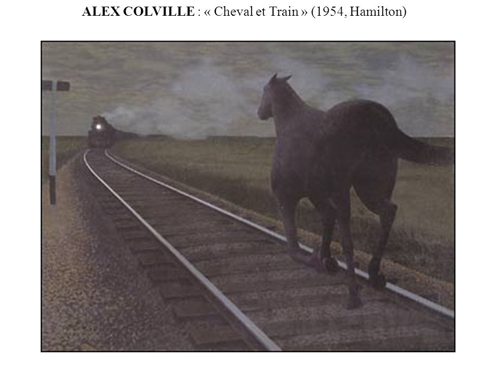 ALEX COLVILLE : « Cheval et Train » (1954, Hamilton)
