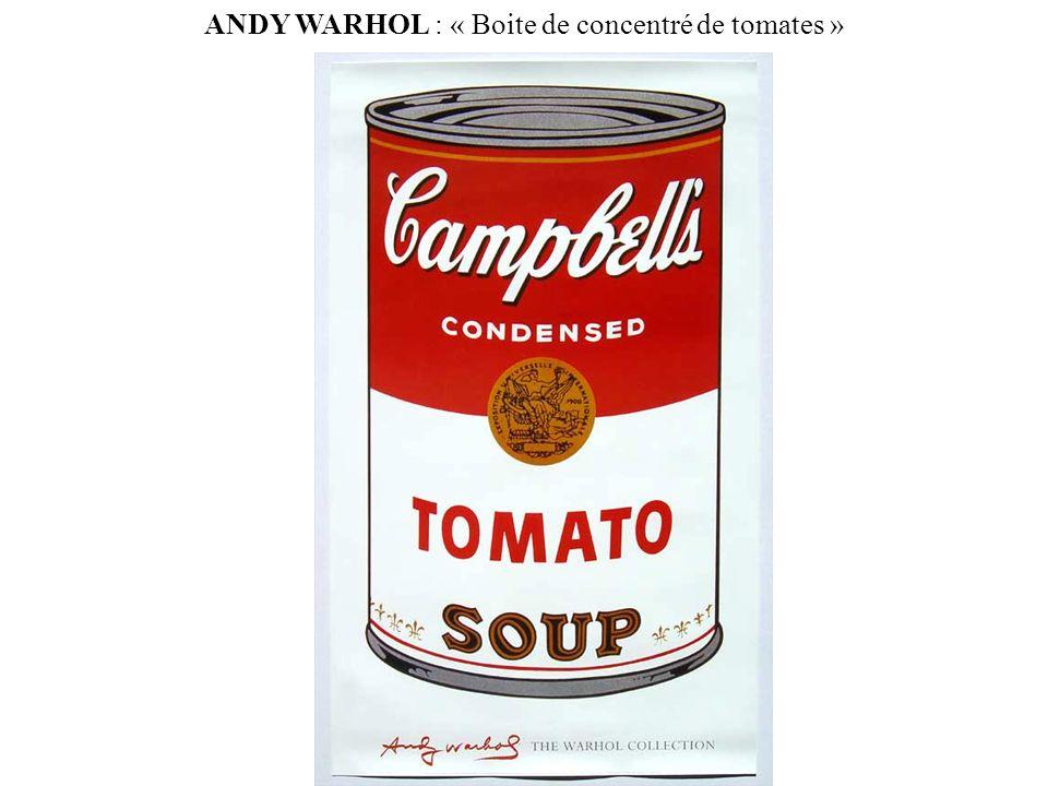 ANDY WARHOL : « Boite de concentré de tomates »