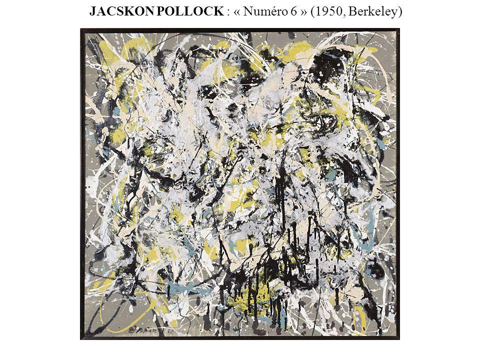 JACSKON POLLOCK : « Numéro 6 » (1950, Berkeley)