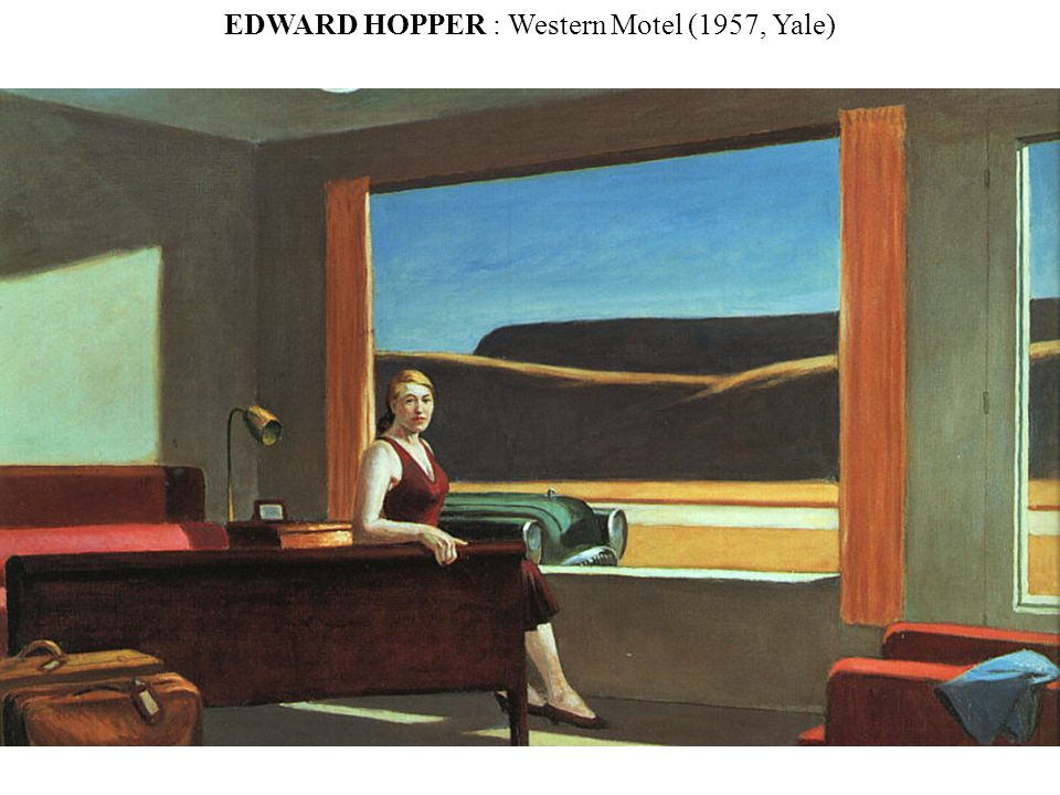 EDWARD HOPPER : Western Motel (1957, Yale)