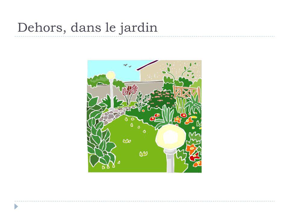 Dehors, dans le jardin