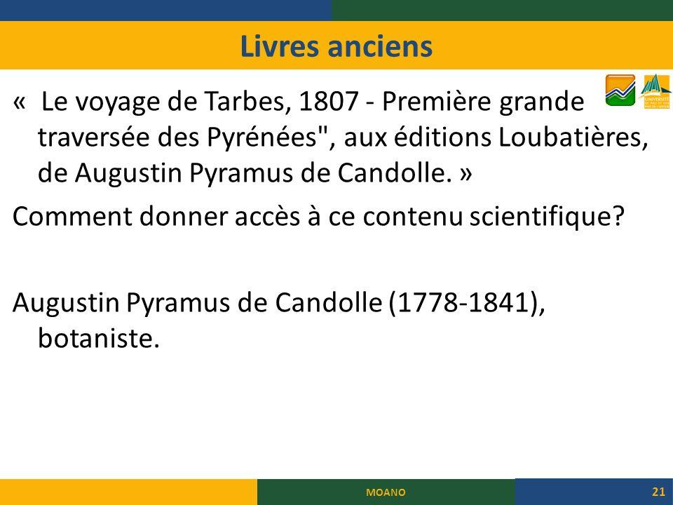 Livres anciens « Le voyage de Tarbes, 1807 - Première grande traversée des Pyrénées , aux éditions Loubatières, de Augustin Pyramus de Candolle.